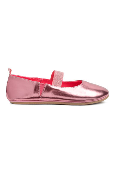 Ballet pumps - Pink/Metallic -  | H&M