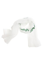 Mesh scarf - White/I loved you first - Ladies | H&M CN 1