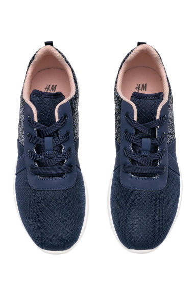 Glittery trainers - Dark blue/Glitter - Kids | H&M CN