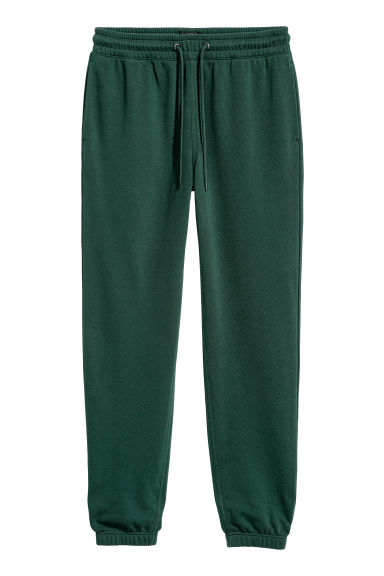Sweatpants Regular fit - Dark green - Men | H&M