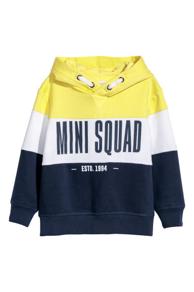 Sweat-shirt à capuche - Jaune/color block - ENFANT | H&M BE 1