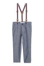 Trousers with braces - Dark blue - Kids | H&M CN 2