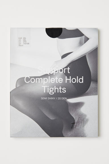 H&M+ 20 denier support tights Model