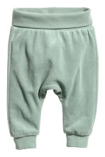 2-pack cotton trousers - Dusky green/Grey - Kids | H&M CN 2