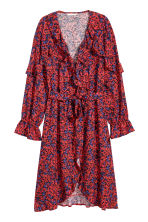 Patterned wrap dress - Red/Floral - Ladies | H&M 2