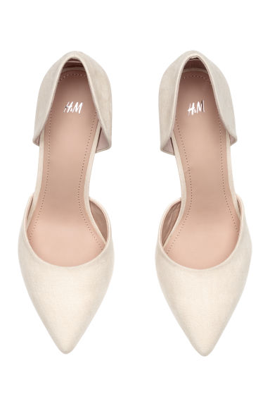 Court shoes - Powder beige -  | H&M CN