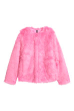 Faux Fur Jacket - Pink - Ladies | H&M CA