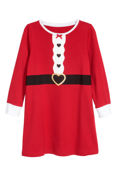 Jersey nightdress - Red/Santa -  | H&M