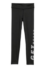 Leggings sportivi - Nero/Get ready -  | H&M IT 1