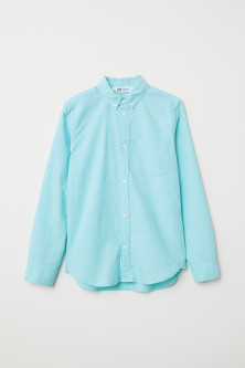 Long-sleeved cotton shirt