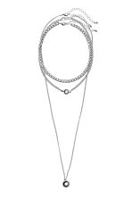 3-pack necklaces - Silver-coloured - Ladies | H&M GB 1