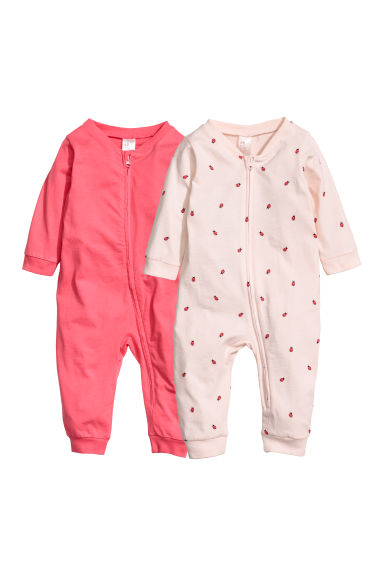 Pigiami in jersey, 2 pz - Rosa/coccinelle -  | H&M IT
