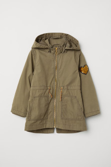 Parka avec application