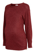 MAMA Knitted jumper - Burgundy - Ladies | H&M GB 2