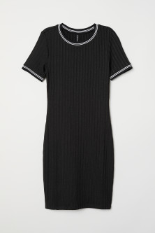 Short-sleeved jersey dress