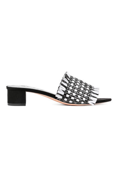 Plastic mules - Black/White - Ladies | H&M