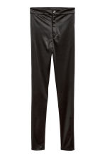 Glossy stretch trousers - Black - Ladies | H&M CN 2