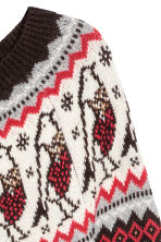 Jacquard-knit jumper - Light beige - Ladies | H&M CN 3