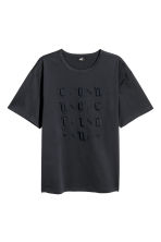 Wide T-shirt - Black - Men | H&M CN 2