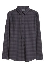Checked shirt Slim fit - Purple/Black checked - Men | H&M IE 2