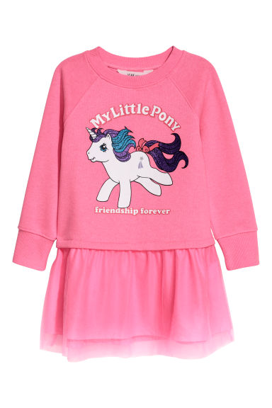 Sweatshirt dress - Cerise/My Little Pony - Kids | H&M CN