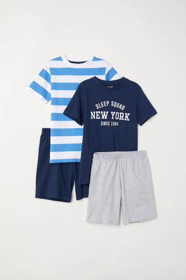 2-pack jersey pyjamas - Dark blue - Kids | H&M CN
