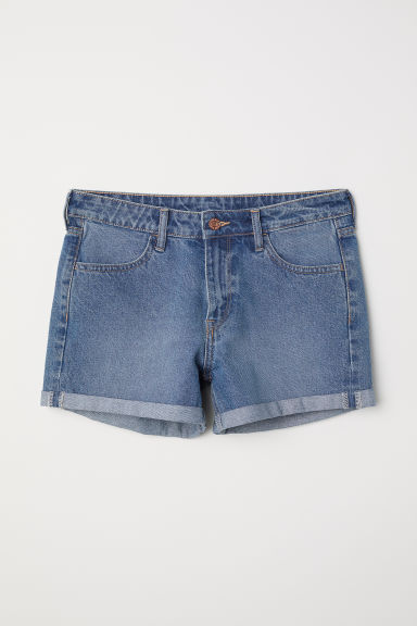 Shorts in denim - Blu denim - DONNA | H&M CH