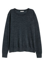 Knitted wool jumper - Dark grey marl - Ladies | H&M GB 2