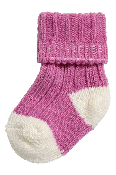 Wool-blend socks - Heather purple -  | H&M IE