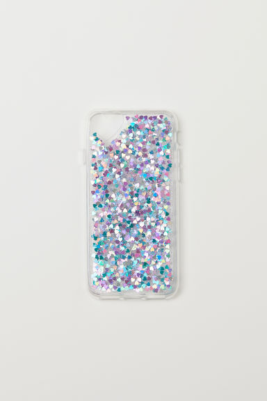 iPhone 6/7 case - Transparent/Glittery hearts -  | H&M CN