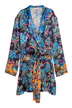 Patterned kimono - Dark blue/Patterned - Ladies | H&M CN 2