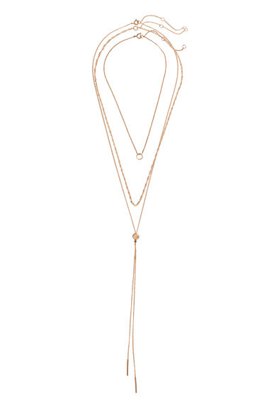 3-pack necklaces - Gold-coloured - Ladies | H&M