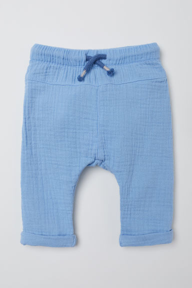 Cotton pull-on trousers - Light blue - Kids | H&M CN