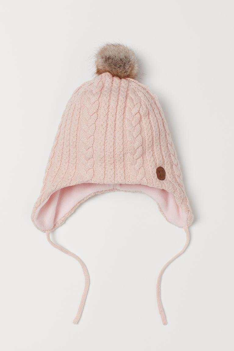 Fleece-lined hat - Powder pink - Kids | H&M GB