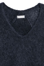 Mohair-blend jumper - Navy blue - Ladies | H&M 3