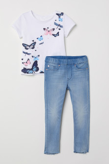 T-shirt et legging en denim