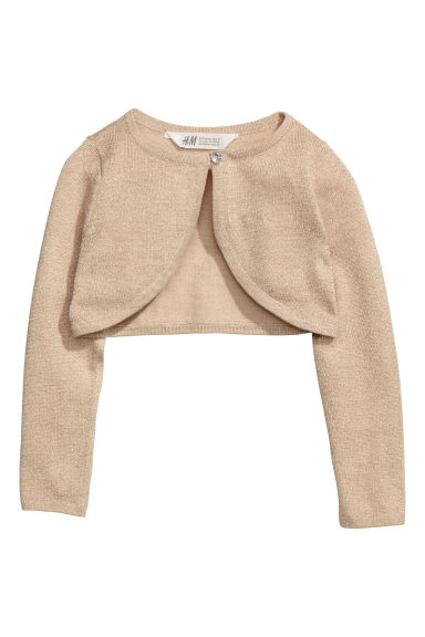 Glittery bolero - Beige/Gold-coloured - Kids | H&M CN