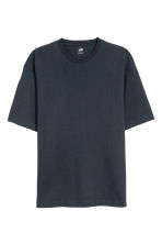 Oversized T-shirt - Donkerblauw - HEREN | H&M BE 2