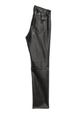 Imitation leather trousers - Black - Ladies | H&M 3