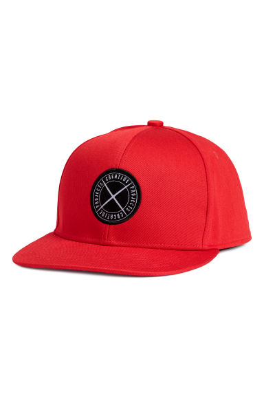 Twill cap - Bright red - Men | H&M