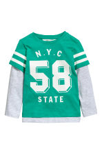 Jersey top - Green/NYC - Kids | H&M 2