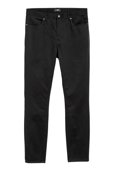 Cotton trousers Skinny fit - Black -  | H&M