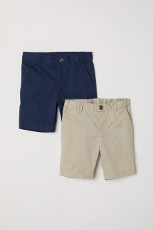 Shorts chino, lot de 2