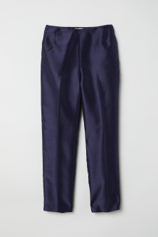 Tailored trousers with a sheen