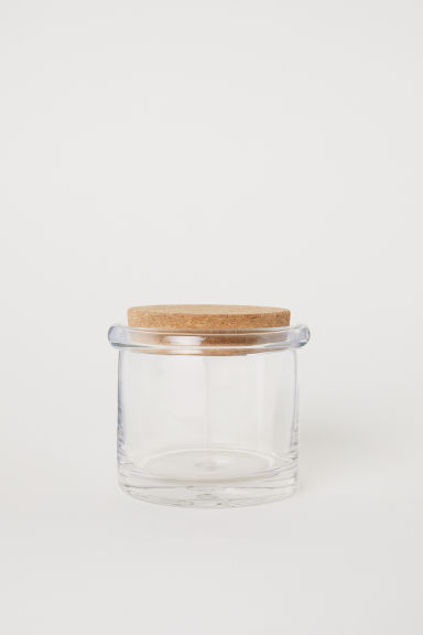 Short glass storage jar - Clear glass - Home All | H&M CN