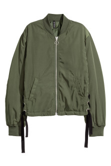 Bomber Jacket with Lacing