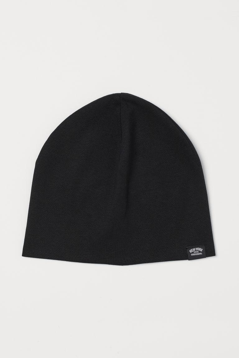 Cotton jersey hat - Black - Kids   H&M GB