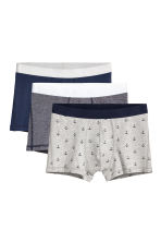 3-pack trunks - Dark blue/Multicoloured - Men | H&M 2