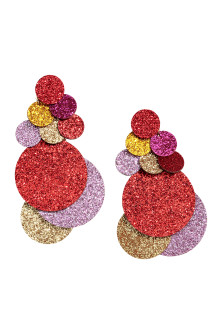 Glittery earrings