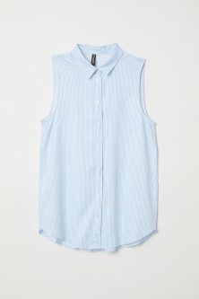 Sleeveless viscose blouse